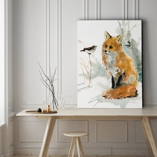 Fox and Friend - Gallery Wrapped Canvas