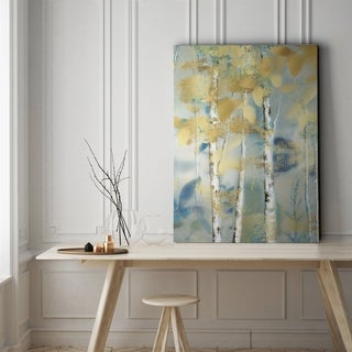 Gilded Forest Detail I - Gallery Wrapped Canvas
