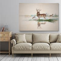 Misty Deer - Gallery Wrapped Canvas