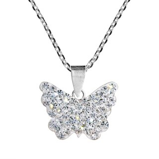 Cute Butterfly Crystal .925 Silver Necklace (Thailand)