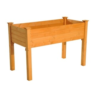 Outsunny 2ft x 4ft Wooden Elevated Garden Flower Bed Planter Box