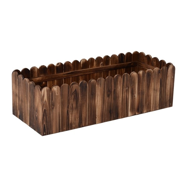 Outsunny 40 in. x 16 in. x 12 in. Wooden Raised Garden Box Planter