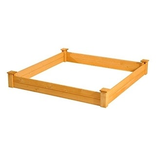Outsunny Wooden 4ft x 4ft Raised Garden Bed