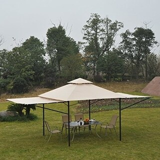 Outsunny 10 ft x 10 ft Steel Outdoor Garden Gazebo with Extendable Sides