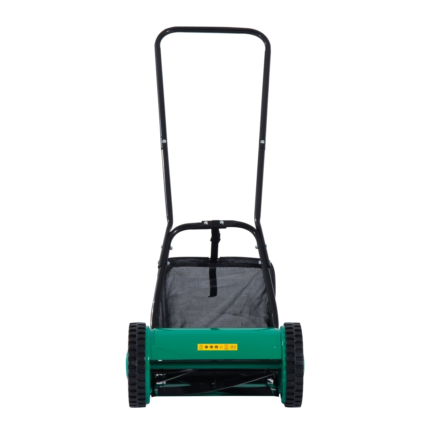 Aosom Outsunny 12 in. 5 Blade Push Lawn Mower with Grass ...