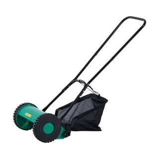 Outsunny 12 in. 5 Blade Push Lawn Mower with Grass Catcher