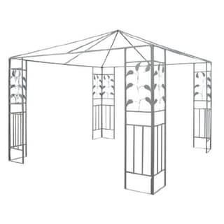 Outsunny 10' x 10' Steel Gazebo Frame Leaf Design