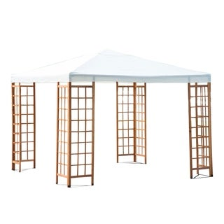 Outsunny 10 ft x 10 ft Outdoor Patio Canopy Pavilion Gazebo