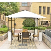 Overstock.com deals on Outsunny Modern 10x10-ft Outdoor Gazebo Canopy Cover