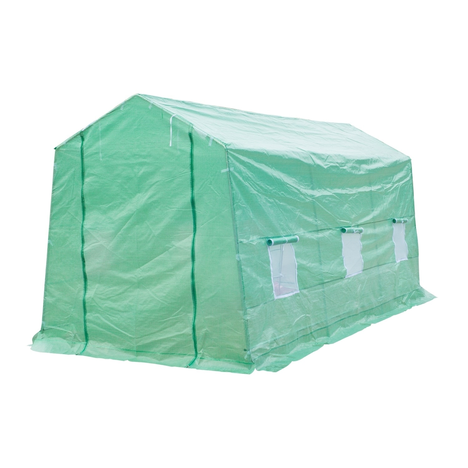 Outsunny 15 ft x 7 ft x 7 ft Portable Walk-In Garden Gree...