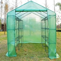 Outsunny 8' x 6' x 7' Portable Greenhouse w/ Shelves