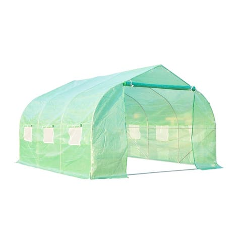 Outsunny 12-foot Portable Walk-in Garden Greenhouse