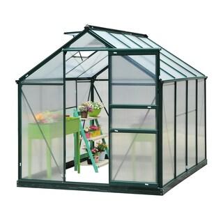 Outsunny 6' x 8' x 7' Polycarbonate Portable Walk-In Garden Greenhouse