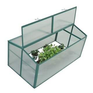 Outsunny 52 in x 28 in Aluminum Vented Cold Frame Greenhouse