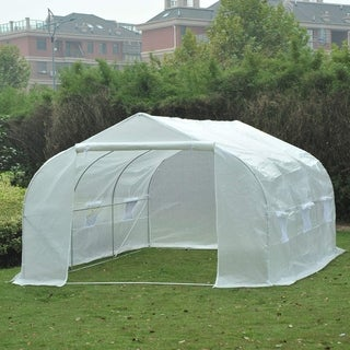 Outsunny 11 ft x 10 ft x 7 ft Portable Walk-In Garden Greenhouse