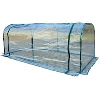 Outsunny 7' L x 3' W x 2.5' H Outdoor Portable Flower Plant Garden Greenhouse Kit