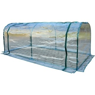 Outsunny 7 ft L x 3 ft W x 2.5 ft H Outdoor Portable Flower Plant Garden Greenhouse Kit