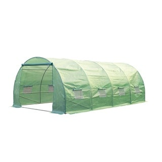 Outsunny 20 ft x 10 ft x 7 ft Portable Walk-In Garden Greenhouse