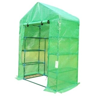 Outsunny 56 in x 30 in x 78 in Portable Greenhouse w/ Shelves