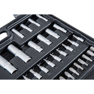 HomCom 108 Piece Mechanics Socket and Ratchet Wrench Tool Kit Set