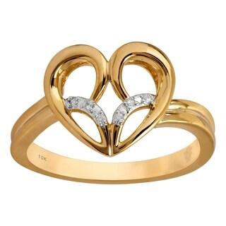 10K Gold Jessica Simpson Diamond Accent Heart Ring - White
