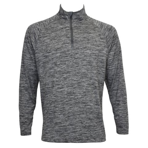 Men's Heather Color Long Sleeve Stretch Pullover 1/4 Zip