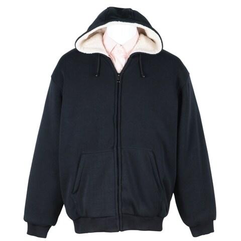 Men's Soft Berber Lined Zip Fleece Hoodie