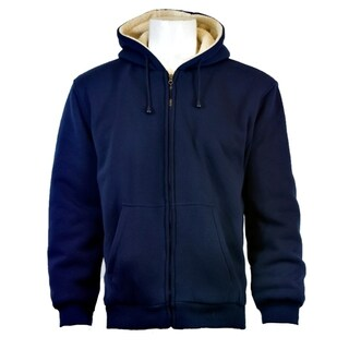 Men's Soft Berber Lined Zip Fleece Hoodie (More options available)