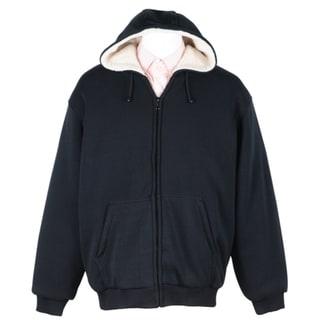 Men's Soft Berber-lined Zip Fleece Hoodie. Opens flyout.