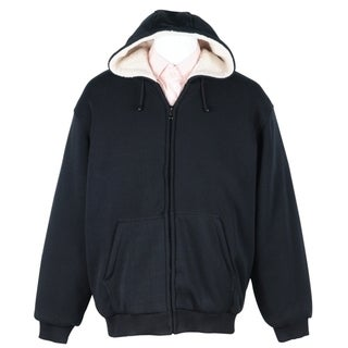 Men's Soft Berber Lined Zip Fleece Hoodie