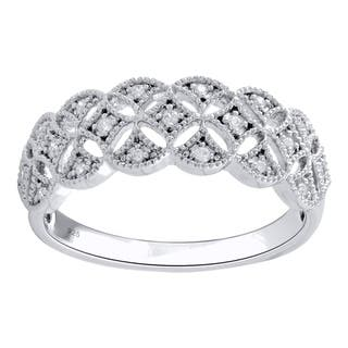 Sterling Silver 1/10cttw Diamond Anniversary Band - White|https://ak1.ostkcdn.com/images/products/17991155/P24165630.jpg?impolicy=medium