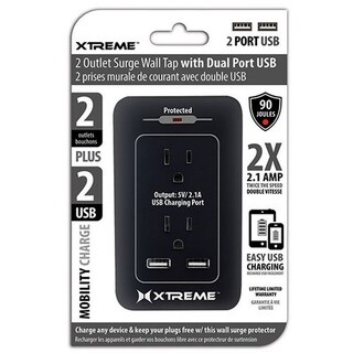 Xtreme 2 AC Wall Outlet surge/2- USB