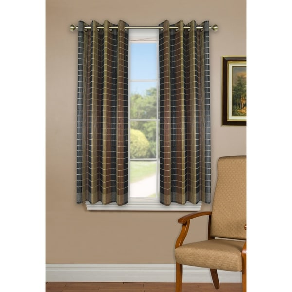 Versailles Bamboo Wood Curtain Panel With Grommets 42in X 63in Free Shipping Today 17993107