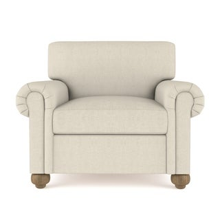 Bushwick Linen Chair Extra Deep - Custom Made to Order TAG by Tandem Arbor