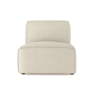 Amersfort Linen Armless Chair Extra Deep - Custom Made to Order TAG by Tandem Arbor