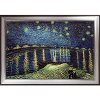 Vincent Van Gogh 'Starry night Over Rhone' Hand Painted Oil Reproduction
