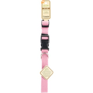 "Coastal Soy 3/4"" Adjustable Dog Collar-Rose, Neck Size 12""-18"""