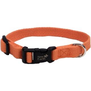 "Coastal Soy 3/4"" Adjustable Dog Collar-Pumpkin, Neck Size 12""-18"""