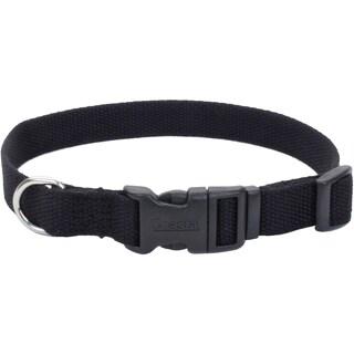 """Coastal Soy 3/4"""" Adjustable Dog Collar-Onyx, Neck Size 12""""-18"""""""