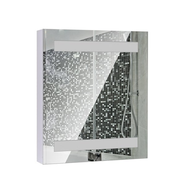 HomCom Vertical 32 LED Illuminated Bathroom Wall Mirror Medicine Cabinet