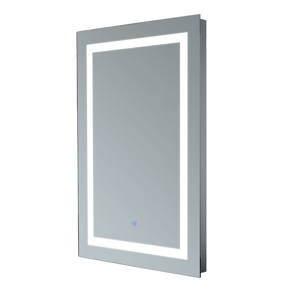 Hom Com Vertical 32 In Led Illuminated Bathroom Wall Mirror by Generic
