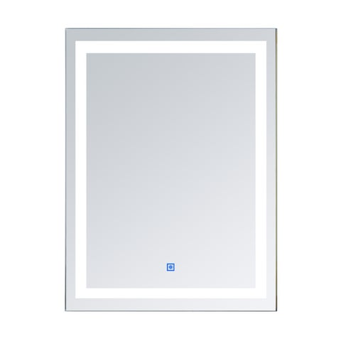 HomCom LED Wall Mount Bathroom Vanity Make Up Mirror with Defogger - Silver