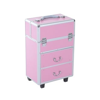 Soozier 4 Tier Lockable Cosmetic Makeup Case with Extendable Trays