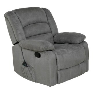Copper Grove Tynwald Rocker Recliner with Heat, Massage, and USB in Gray Microfiber