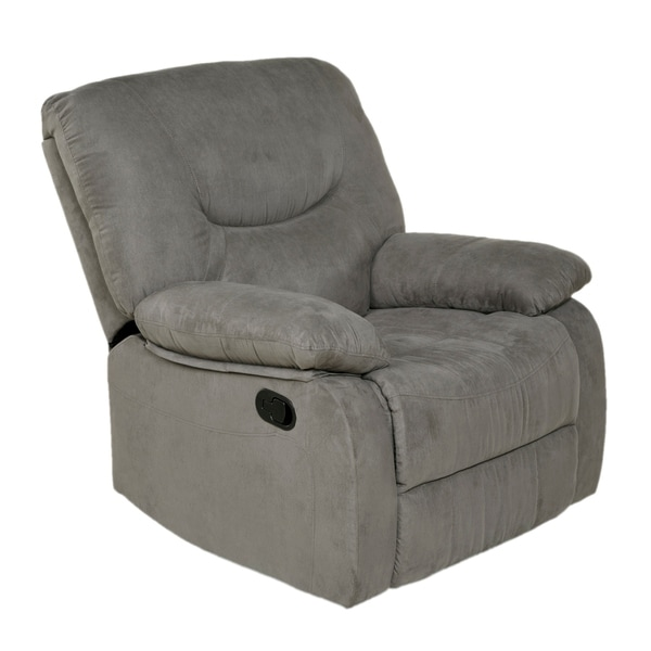 Copper Grove Tynwald Rocker Recliner in Grey Microfiber