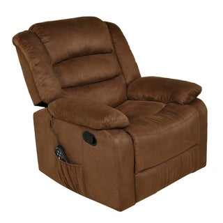 Copper Grove Tynwald Brown Recliner with Heat, Massage, and USB