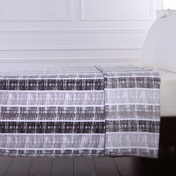 Berkshire Blanket Contemporary Stripped Velvety Blanket