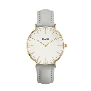 Cluse LA BOHÈME Women's CL18414 Grey Leather Gold Accent Watch