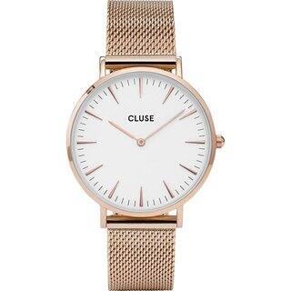 Cluse LA BOHÈME Women's CL18112 Rose Gold Mesh Dress Watch|https://ak1.ostkcdn.com/images/products/17993662/P24166402.jpg?impolicy=medium