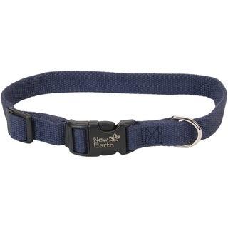 """Coastal Soy 3/4"""" Adjustable Dog Collar-Indigo, Neck Size 12""""-18"""""""